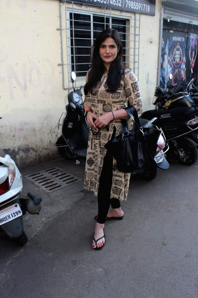 Zareen Khan seen at Bandra on Tuesday, 26 January 2021. - Zareen Khan