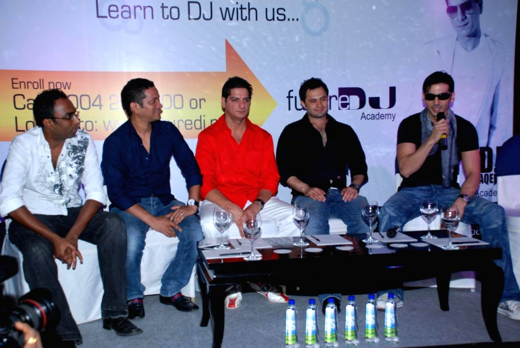 Zayed Khan at the launch of DJ Aqeel's DJ Academy.