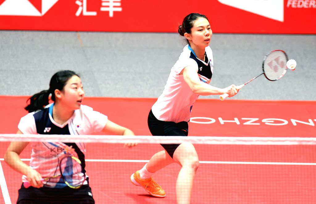 ZHONGGUO, Dec. 12, 2019 - Kim So Yeong (R)/Kong Hee Yong of South Korea compete during the women's doubles group B match between Kim So Yeong /Kong Hee Yong of South Korea and Jongkolphan ...