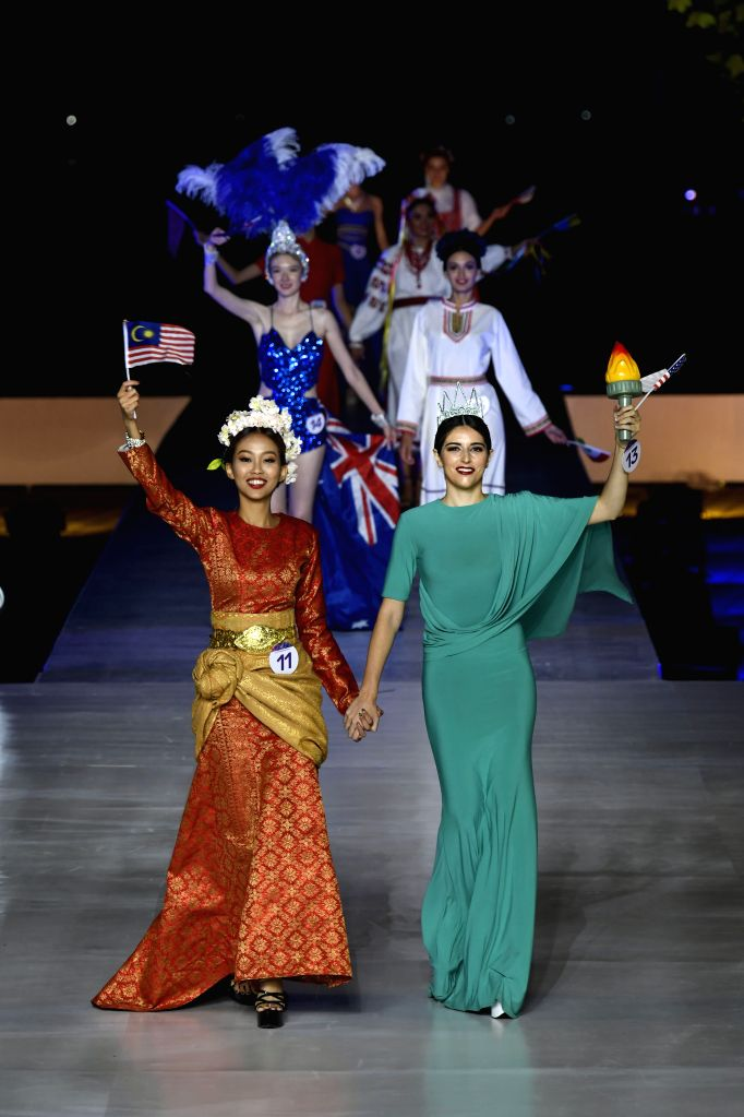 ZHONGWEI, Sept. 13, 2019 - Contestants compete in the final of 2019 Silk Road Miss Tourism of the Globe in Zhongwei, northwest China's Ningxia Hui Autonomous Region, Sept. 12, 2019. A total of 42 ...