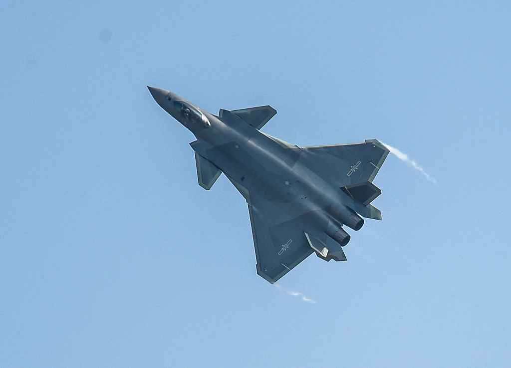 ZHUHAI, Nov. 1, 2016 - A J-20 stealth fighter performs at the 11th China International Aviation and Aerospace Exhibition in Zhuhai, south China's Guangdong Province, Nov. 1, 2016. China's ...