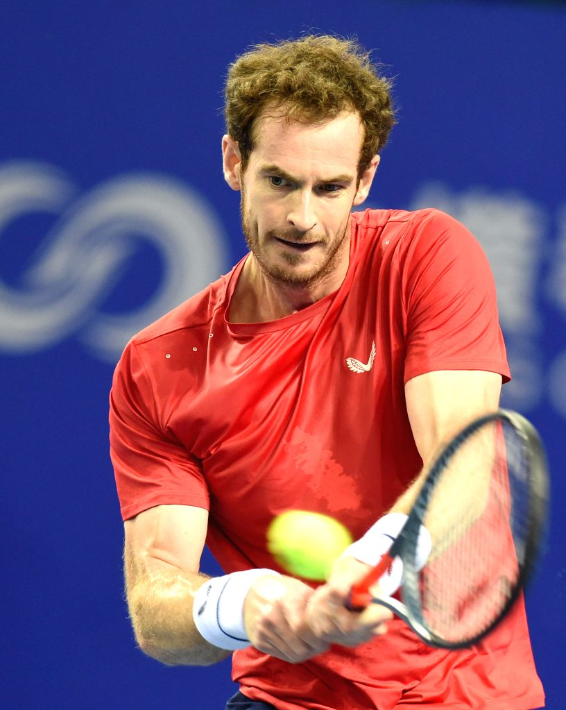 ZHUHAI, Sept. 24, 2019 - Andy Murray of Britain competes during the mens 1st round match between Andy Murray of Britain and Tennys Sandgren of the United States at ATP Zhuhai Championships in Zhuhai, ...