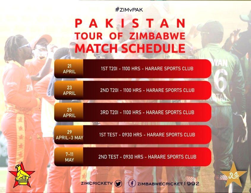 Zimbabwe Vs Pakistan Series played behind close door. (Credit: Zimbabwe Cricket Twitter)