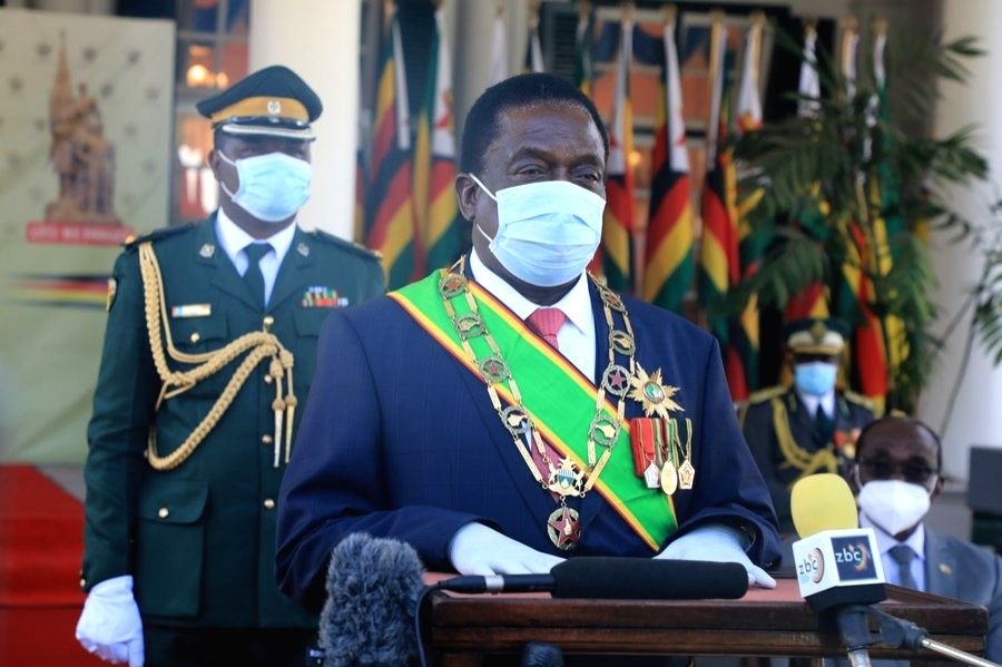 Zimbabwean president takes 2nd Sinovac vaccine dose