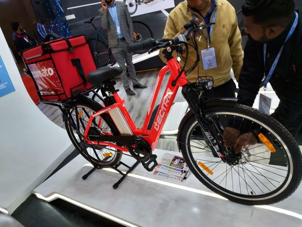 Zomato e-bicycle.