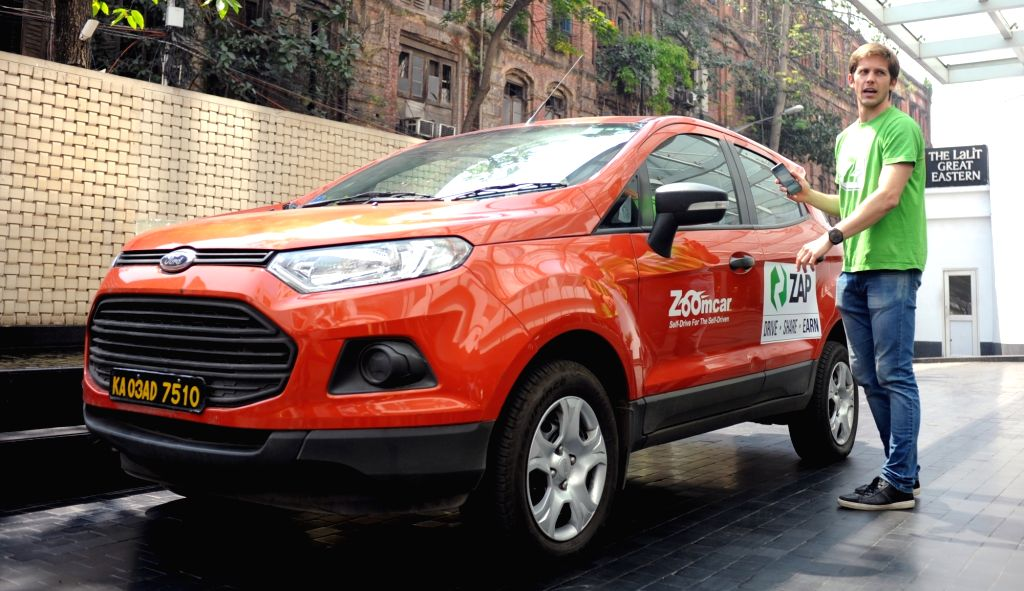 Zoomcar CEO Greg Moran launches the ZAP model in Kolkata, on March 15, 2017.