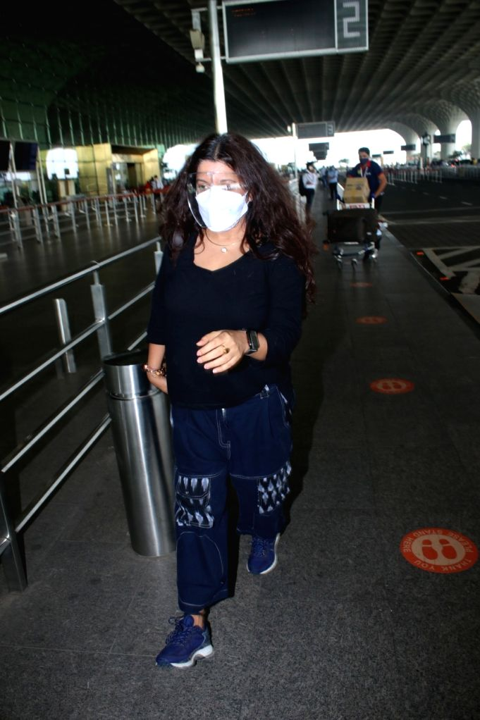 Zoya Akhtar Spotted At Airport Departure.