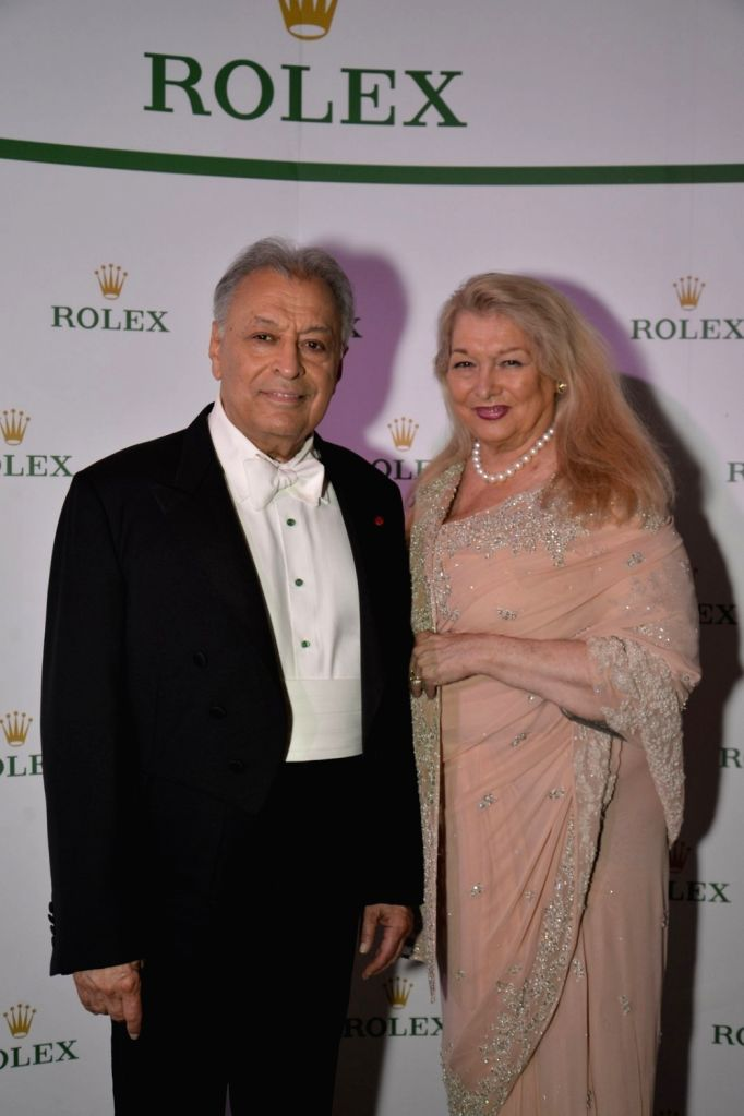 Zubin Mehta with wife Nancy Kovack at Rolex dinner party in Mumbai on April 17, 2016. - Zubin Mehta