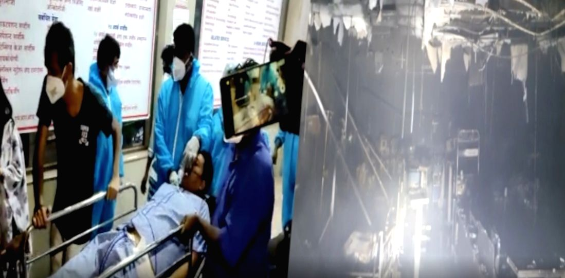 10 perish in Maha Covid hospital ICU blaze.