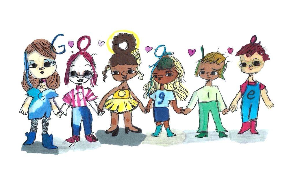 5th grader wins '2020 Doodle for Google' for spreading kindness.