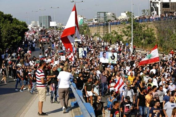 84 injured as protests turn violent in Beirut