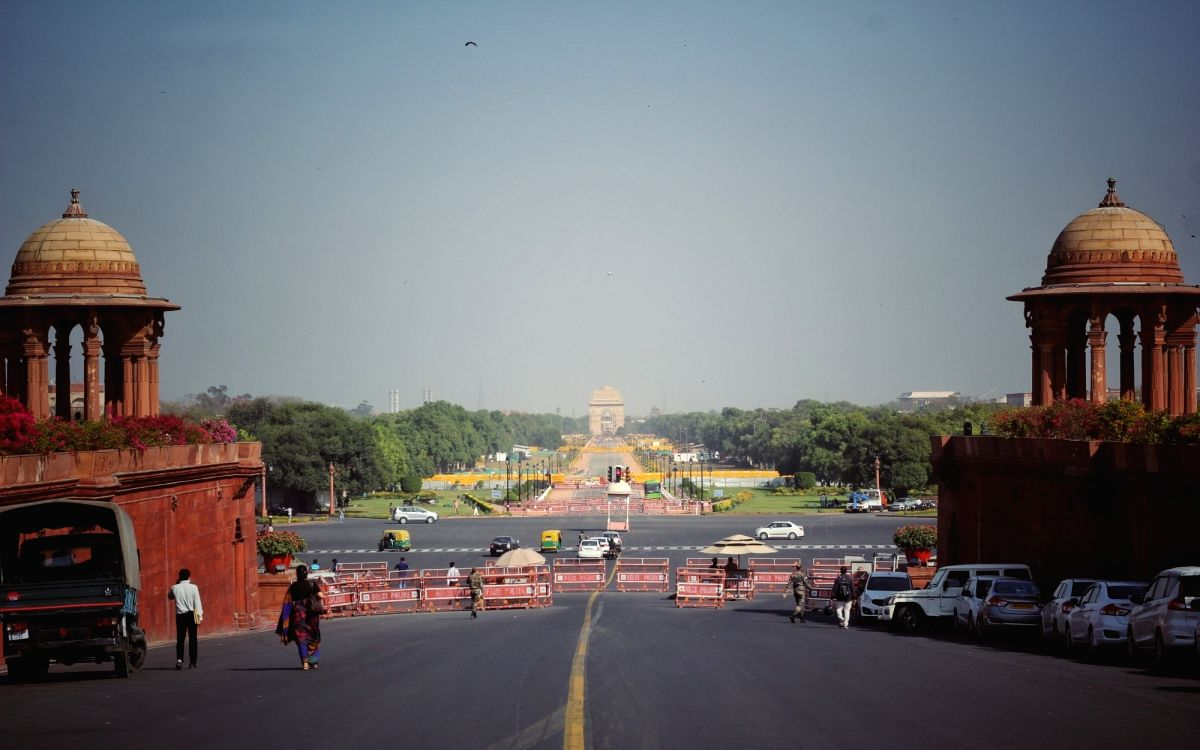 A beautiful evening view of Rajpath during the Clean Climate in New Delhi on Friday. Photo by Wasim Sarvar / IANS