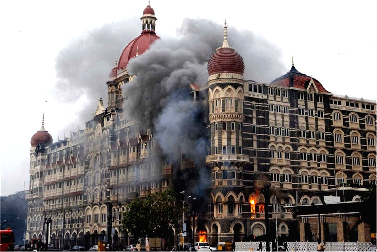 A file photo of 26/11 Attacks on Mumbai. Ten heavily armed Pakistani terrorists had landed undetected in Mumbai's Badhwar Park in Colaba from the sea Nov 26, 2008, and laid siege to several key locations, including Chhatrapati Shivaji Terminus, Taj M