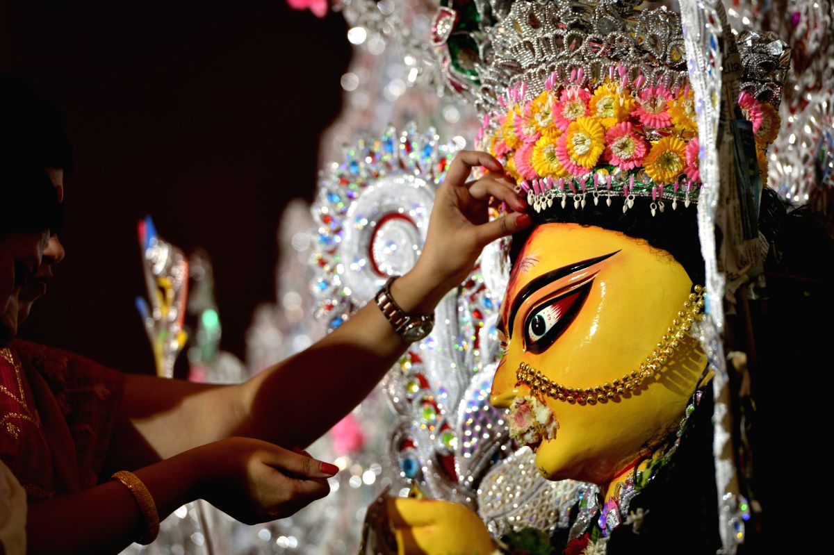 Sindoor Khela is celebrated on the last day of Durga Puja