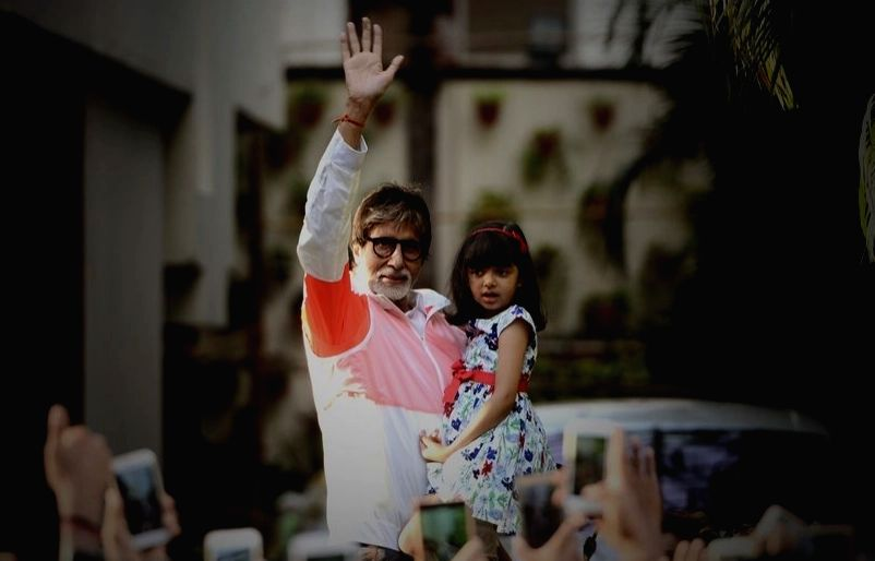 Amitabh Bachchan with his grand daughter Aaradhya Bachchan