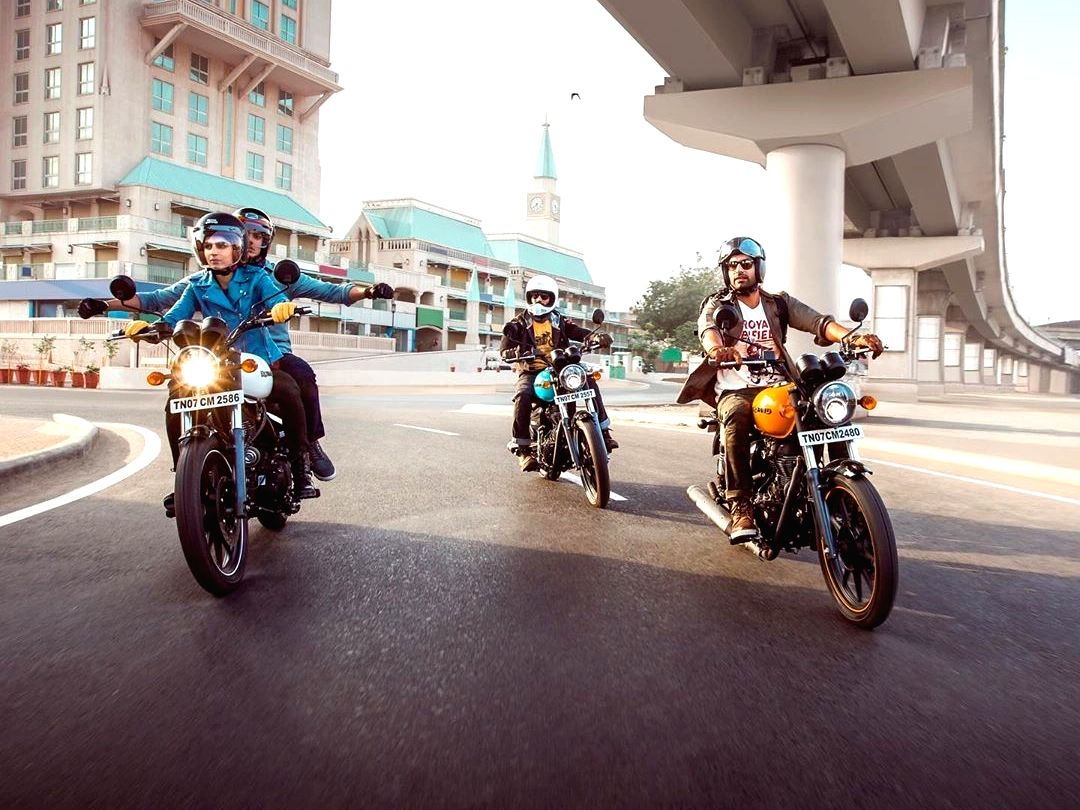 A royal 'enfield' of a day.