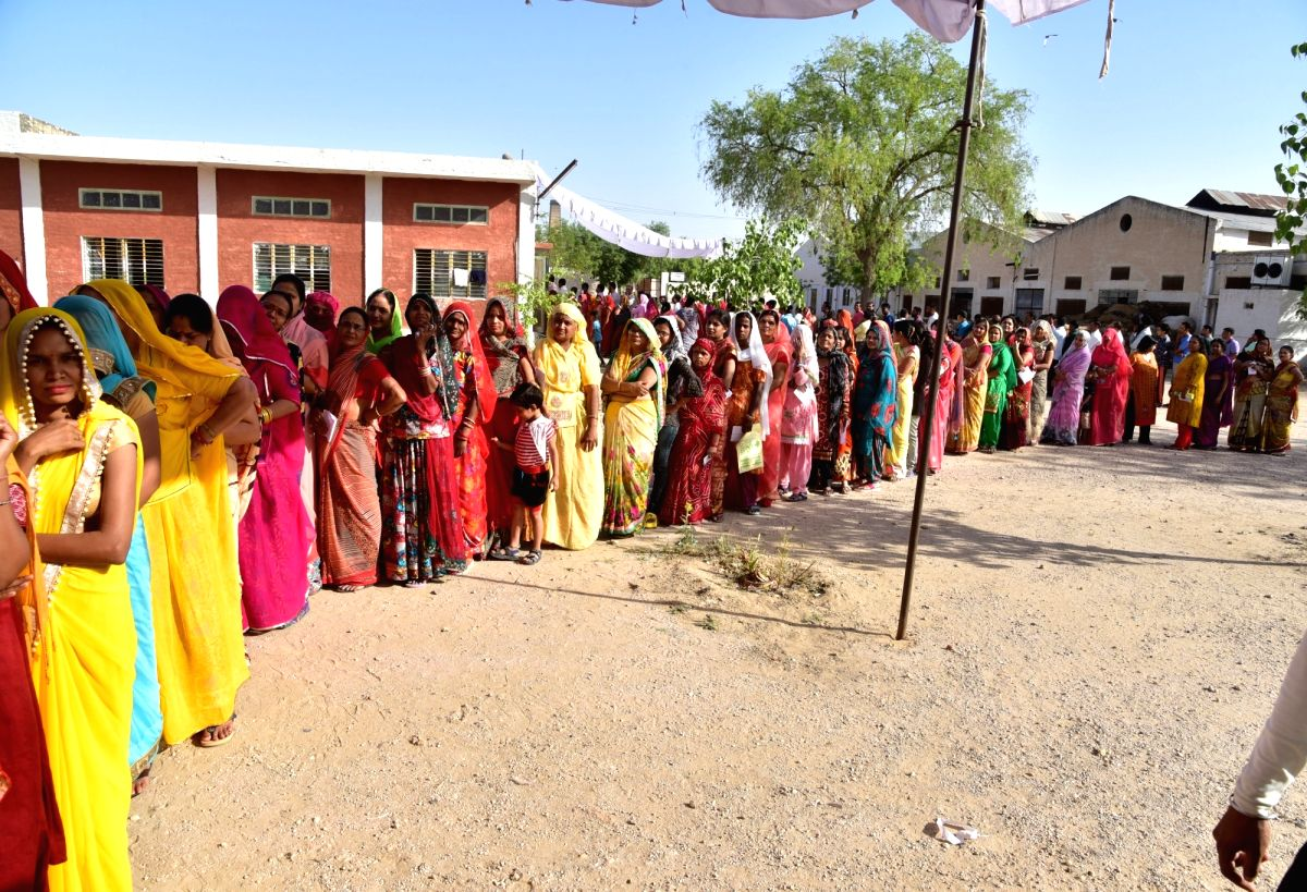 A total of 55.66 per cent was reported in Mandava till 3 pm while Khinvsar registered 49.95 per cent of voting till the same time on Monday.