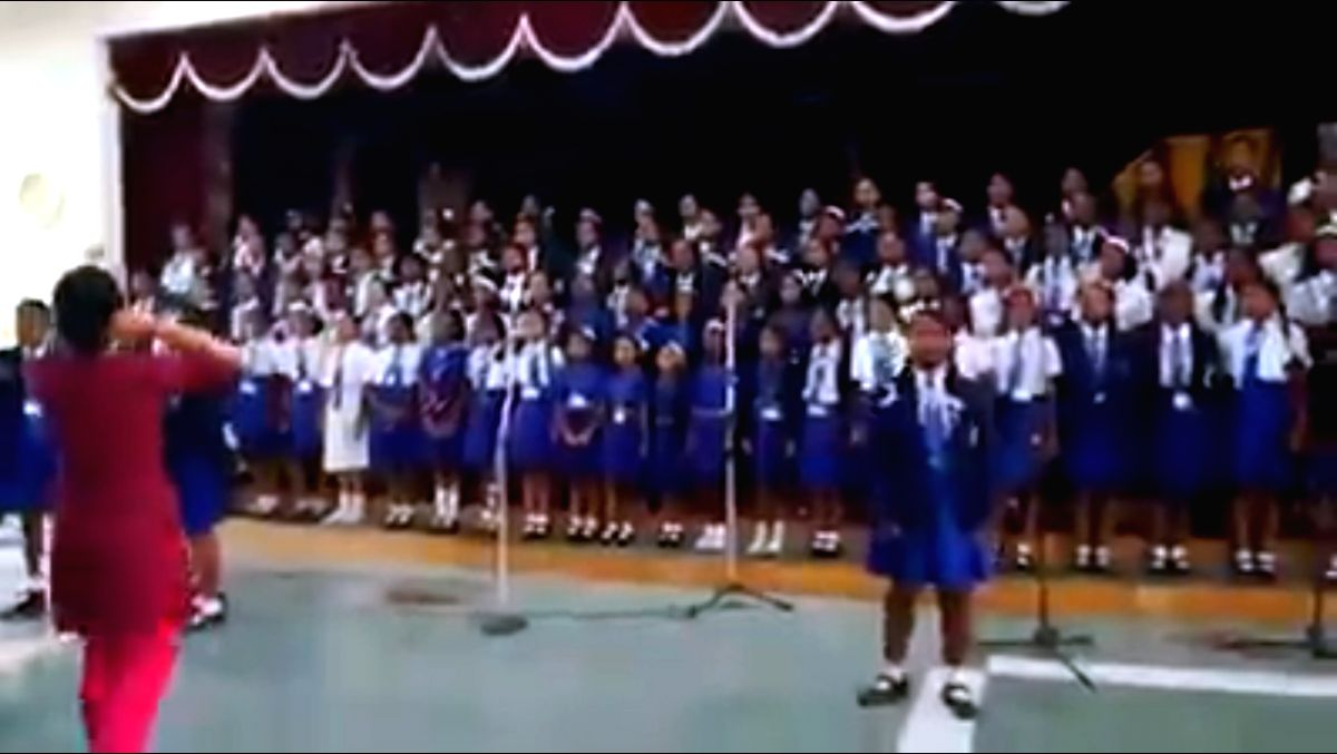 A video clipping of a group of schoolchildren rendering Imagine Dragon's popular song Believer has created quite a buzz on social media.