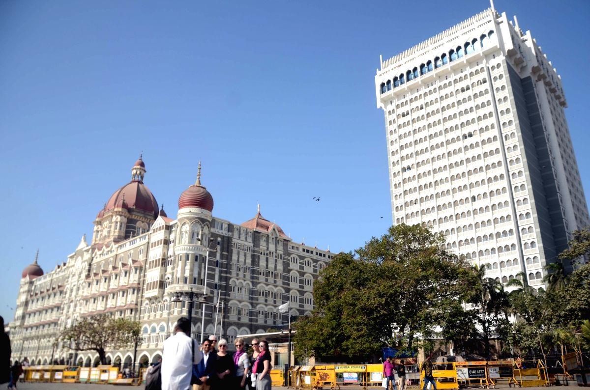 A view of the Taj Mahal Palace Hotel in Mumbai. (File Photo: IANS)