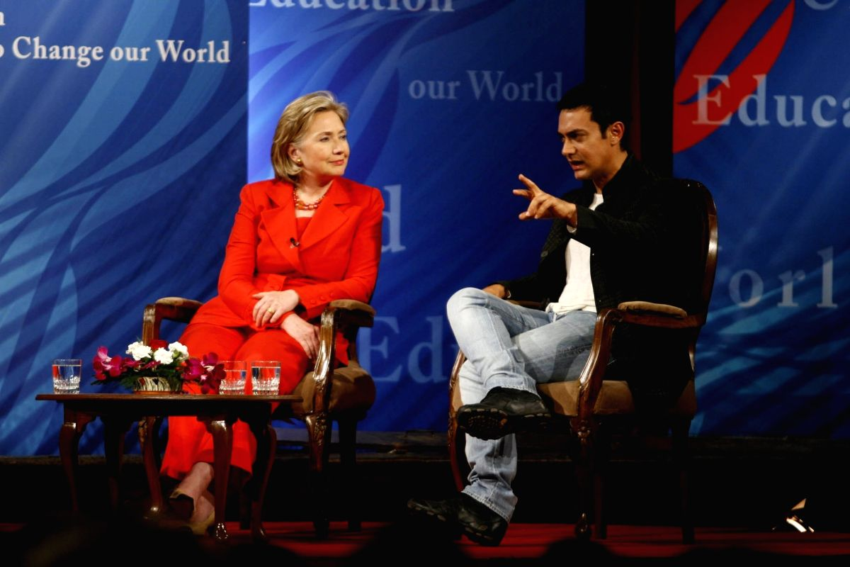 Aamir with Hillary