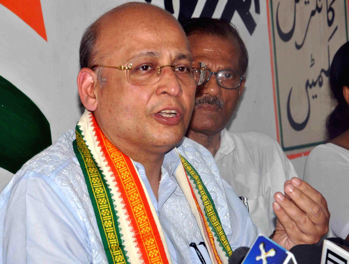 Abhishek Manu Singhvi. (Photo: Kuntal Chakrabarty/IANS)
