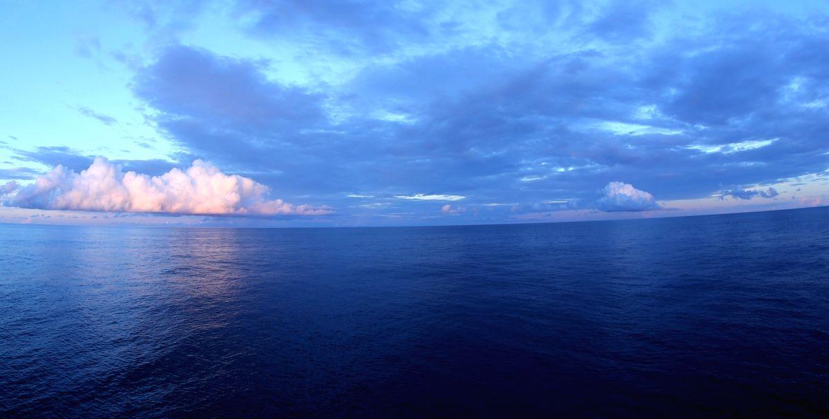 ABOARD XIANGYANGHONG 09, June 15, 2017 (Xinhua) -- Photo taken on June 15, 2017 shows the sunrise in the west Pacific as seen from Xiangyanghong 09, mothership of China's manned submersible Jiaolong. (Xinhua/Liu Shiping/IANS)
