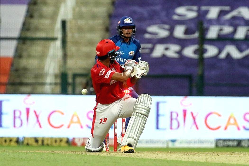 Abu Dhabi: KL Rahul captain of Kings XI Punjab clean bowled by Rahul Chahar of Mumbai Indians during match 13 of season 13 of the Indian Premier League (IPL) between the Kings XI Punjab and the Mumbai Indians at the Sheikh Zayed Stadium, Abu Dhabi in