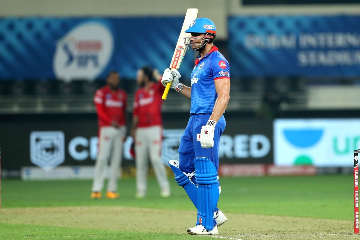 Abu Dhabi: Marcus Stoinis of Delhi Capitals during match 2 of season 13 of Dream 11 Indian Premier League (IPL) between Delhi Capitals and Kings XI Punjab held at the Dubai International Cricket Stadium, Dubai in the United Arab Emirates on the 20th September 2020. Photo by: Ron Gaunt / Sportzpics for BCCI