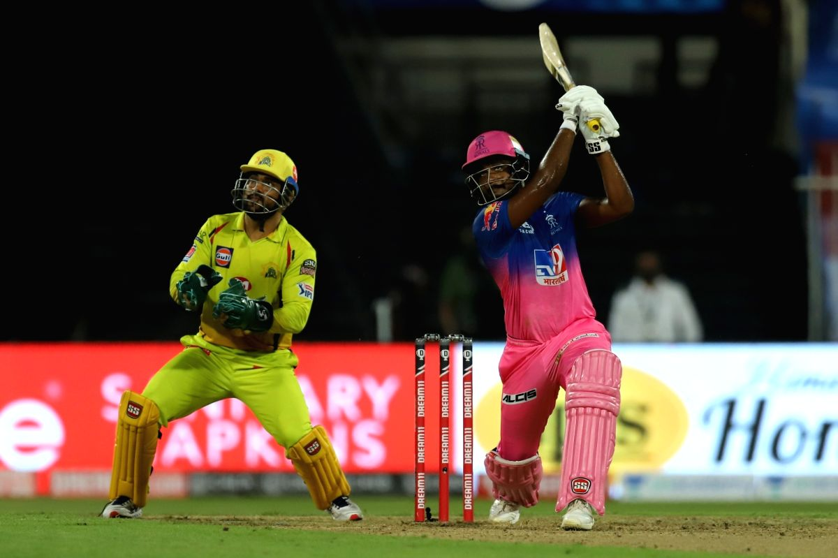 Abu Dhabi: Sanju Samson of Rajasthan Royals bats during match 4 of season 13 of the Dream 11 Indian Premier League (IPL) between Rajasthan Royals and Chennai Super Kings held at the Sharjah Cricket Stadium, Sharjah in the United Arab Emirates on the