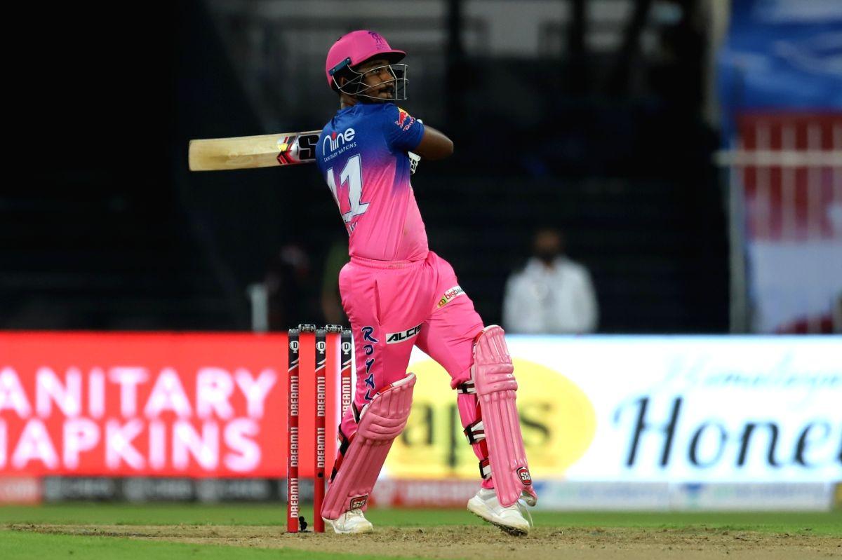 Abu Dhabi: Sanju Samson of Rajasthan Royals bats during match 4 of season 13 of the Dream 11 Indian Premier League (IPL) between Rajasthan Royals and Chennai Super Kings held at the Sharjah Cricket Stadium, Sharjah in the United Arab Emirates on the