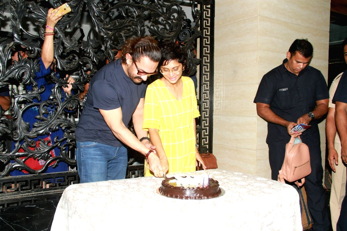 Aamir and kiran for his bday celebrations
