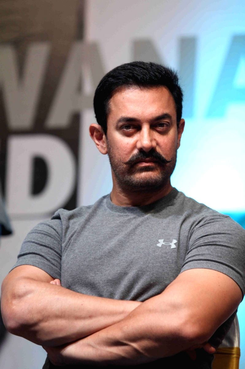 Majestic posing for the camera- Aamir khan