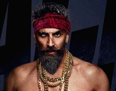 "Actor Akshay Kumar's new look from his much-awaited film ""Bachchan Pandey""."