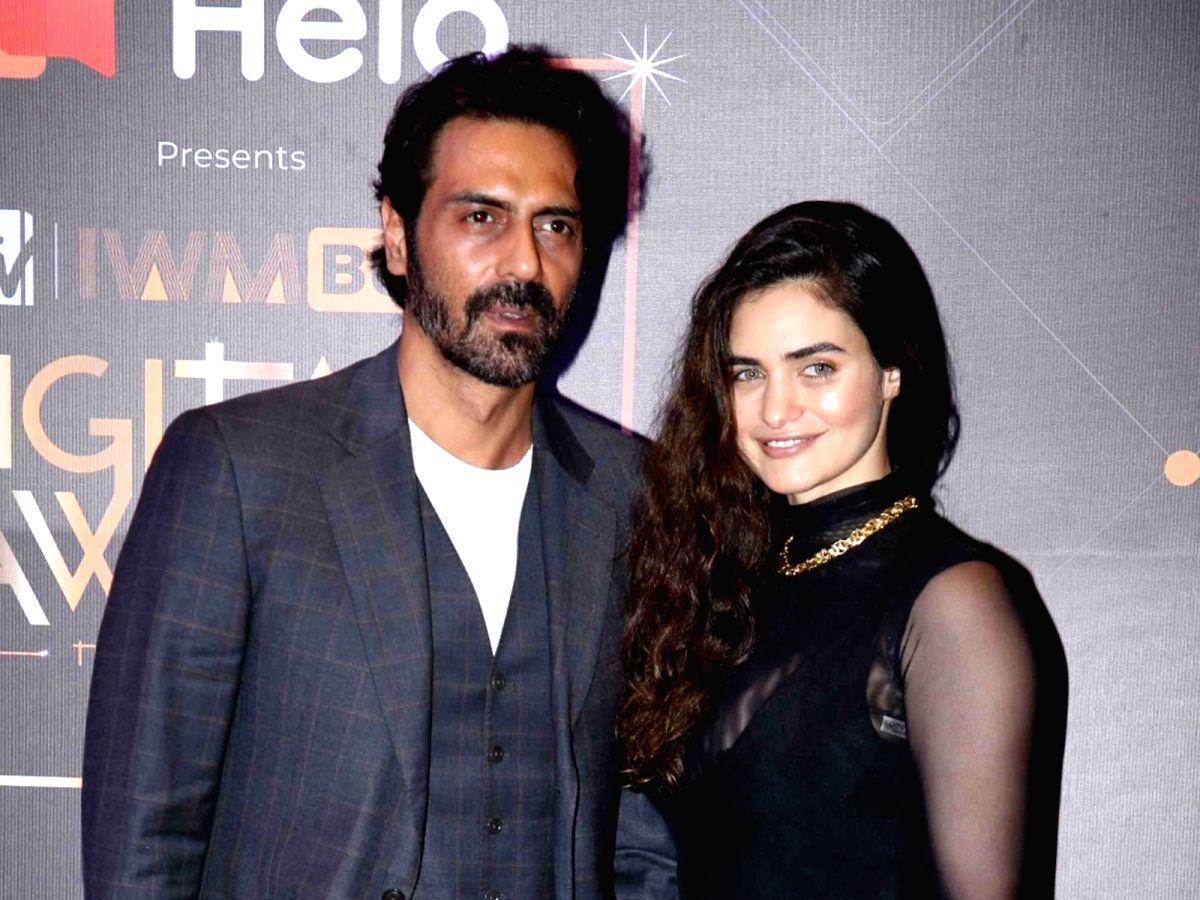 Actor Arjun Rampal and his partner Gabriella Demetriades