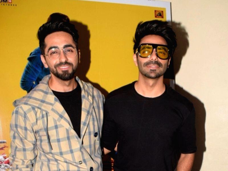 Actor Ayushmann Khurrana along with his brother Aparshakti Khurana
