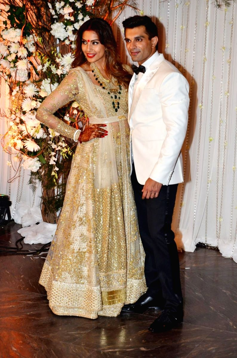 Bipasha Basu and husband Karan Singh Grover on their wedding day