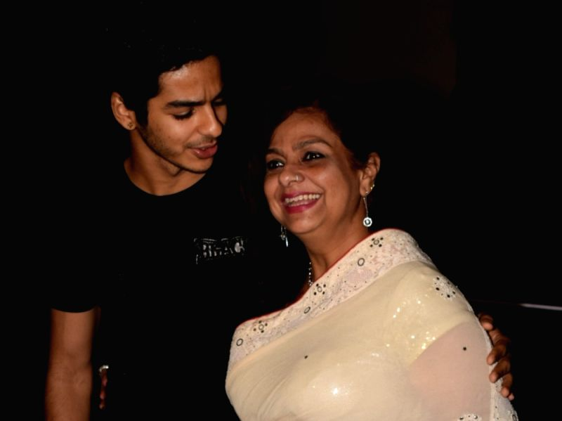 Actor Ishaan Khatter along with his mother Neelima Azeem