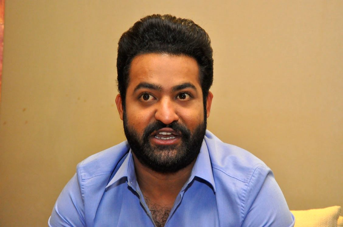 "Actor Junior NTR during a pressmeet of his upcoming film ""Jai Lava Kusa"" in Hyderabad on Sept 18, 2017."