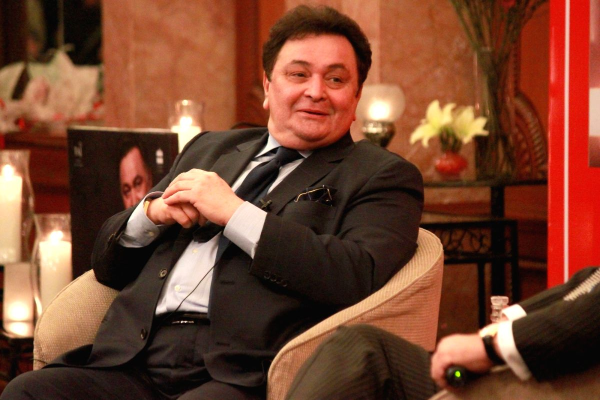 New Delhi: Actor Rishi Kapoor at launch of his autobiography 'Khullam Khulla - Rishi Kapoor Uncensored' in New Delhi on Jan. 17, 2017.
