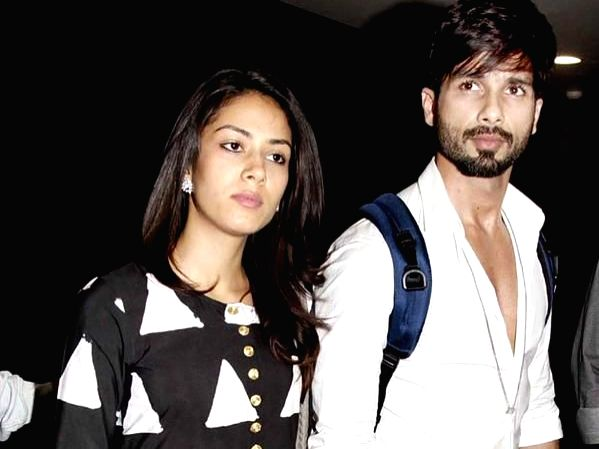 Actor Shahid Kapoor and his wife Mira Rajput