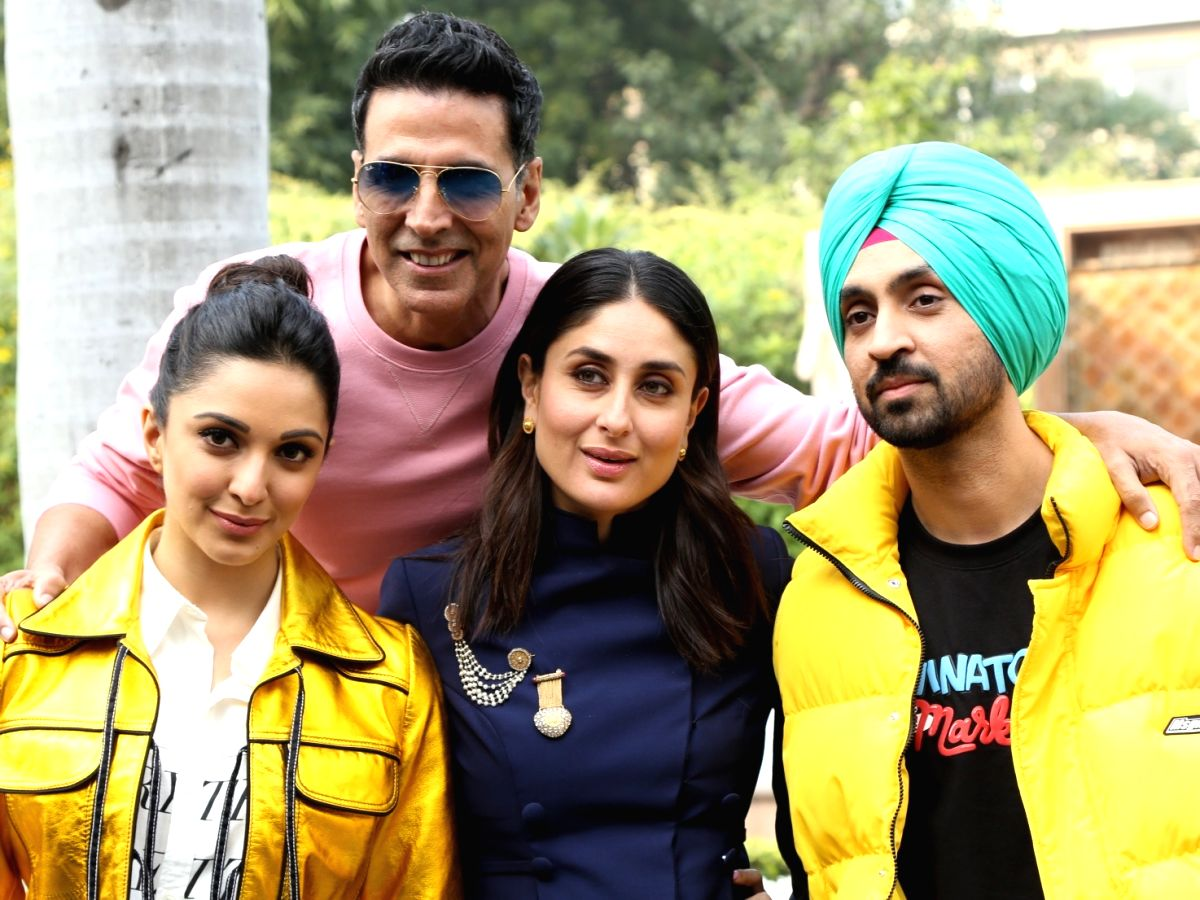 Actors Akshay Kumar, Kareena Kapoor, Diljit Dosanjh and Kiara Advani