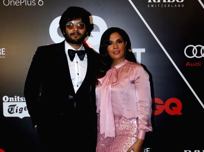 Actors Ali Fazal and Richa Chadha.