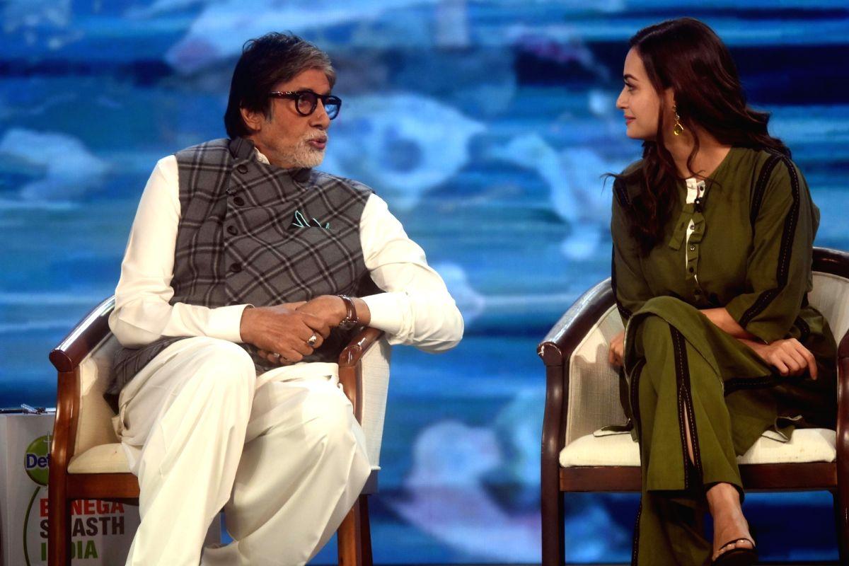 Actors Amitabh Bachchan and Dia Mirza