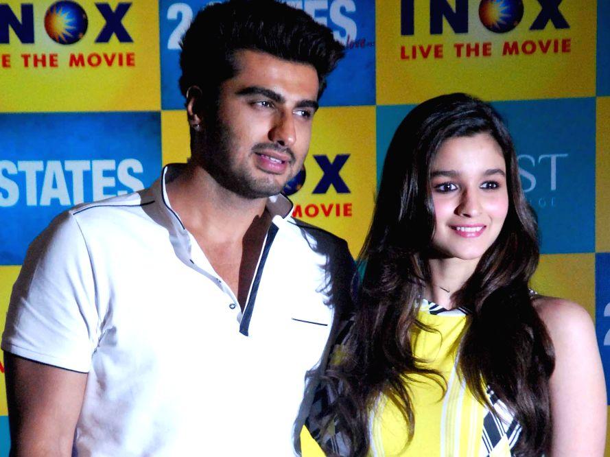 Actors Arjun Kapoor and Alia Bhatt