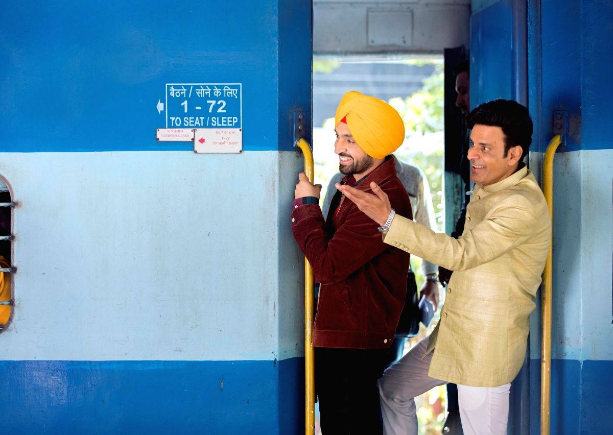 "Actors Diljit Dosanjh and Manoj Bajpayee recently shot at a crowded a Chhatrapati Shivaji Maharaj Terminus (CSMT) platform here for their upcoming film ""Suraj Pe Mangal Bhari""."