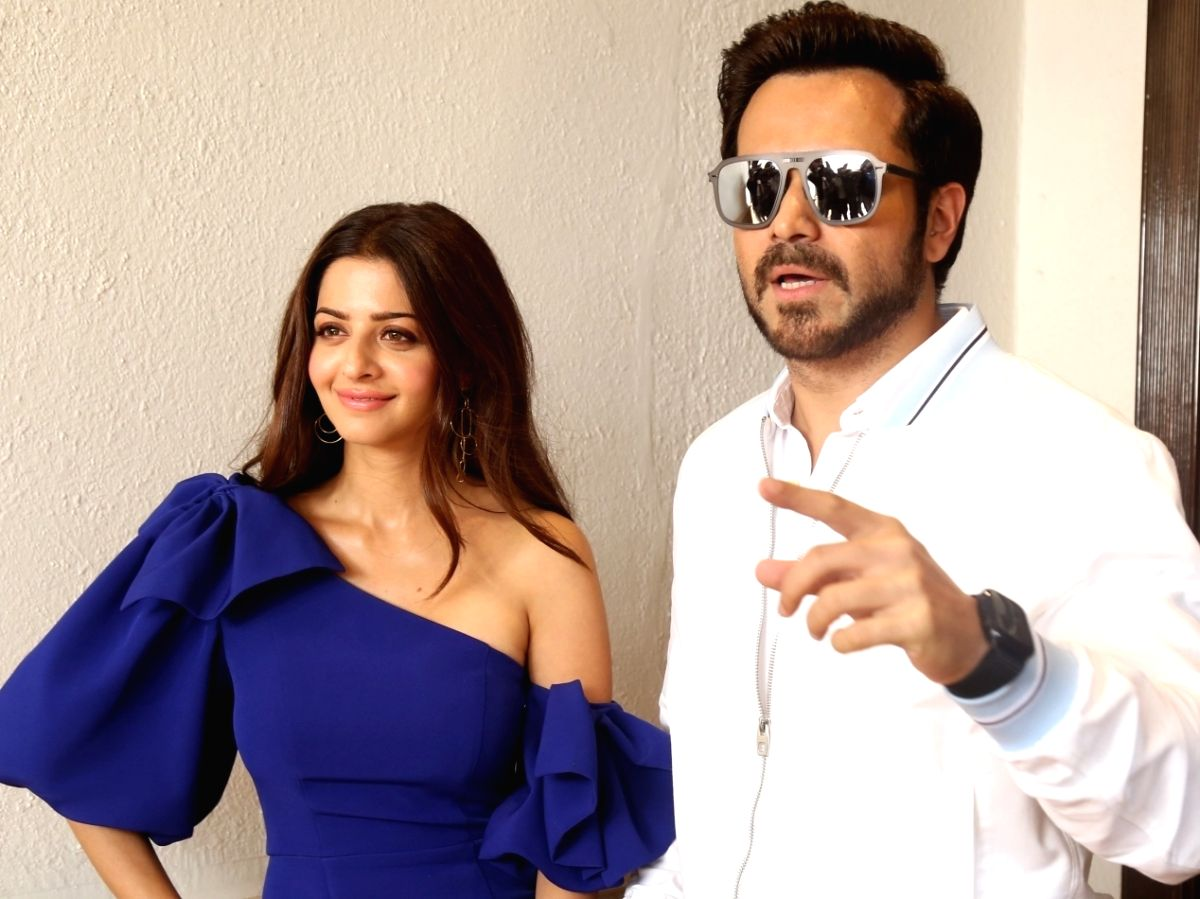 """Actors Emraan hashmi and Vedhika Kumar during the promotions of their upcoming film """"The Body"""" in Mumbai"""