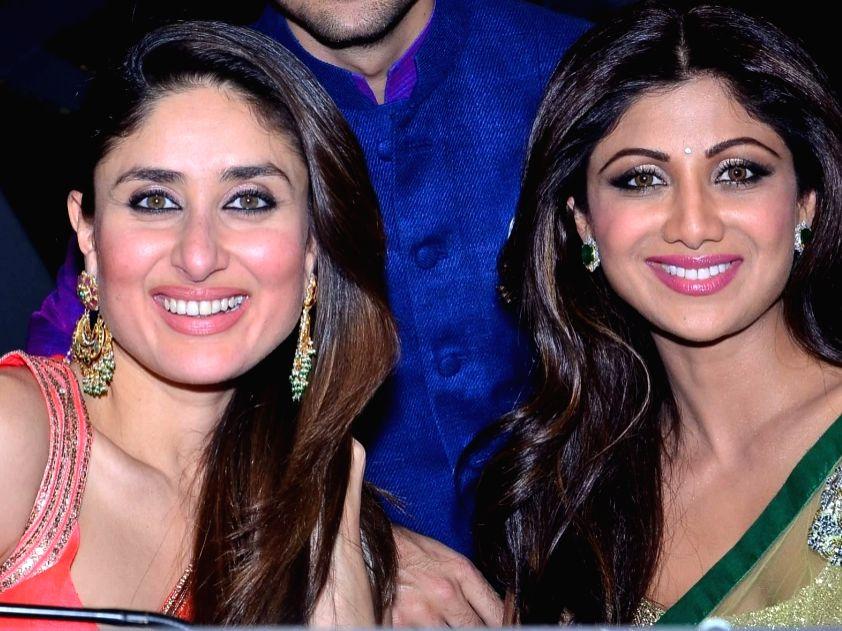 Actors Kareena Kapoor Khan and Shilpa Shetty