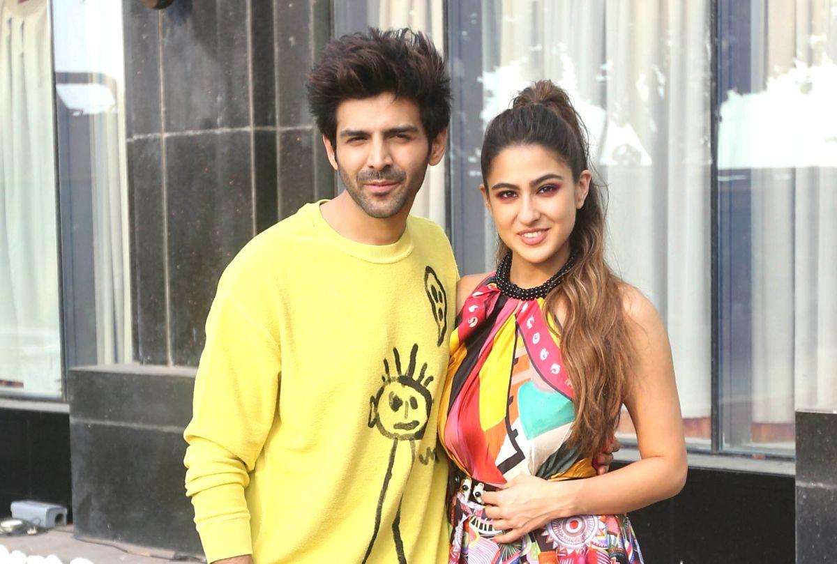 Actors Kartik Aaryan and Sara Ali Khan