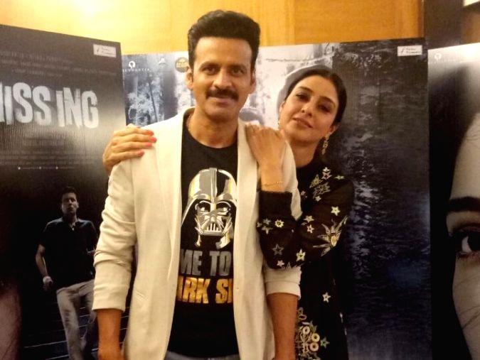 Actors Manoj Bajpayee and Tabu