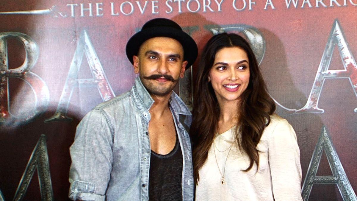Actors Ranveer Singh and Deepika Padukone